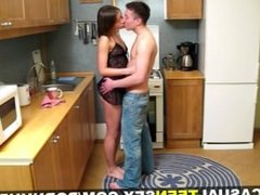 Casual Teen Sex - Casual fuck in a kitchen