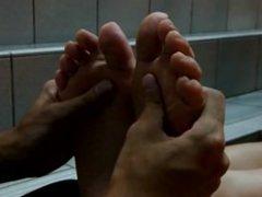 20-yr old Japanese University Student's Size 23.5cm Foot Massage