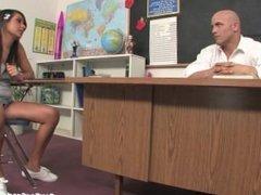 Bad Girl Teen Masturbates and Fucks Her Teacher In Detention!