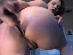 Amateur Busty German Brunette Anal Masturbation