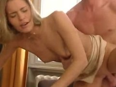German Teen Anja in the Office cool by fucked