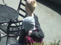 Public Sex In Outdoor Café