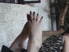 Asian Tease long toenails
