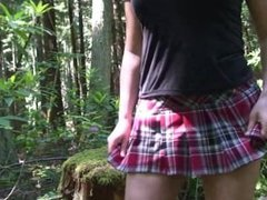 Behind the Scenes of Cheerleader in the Woods - Erin Electra, ElectraChrist