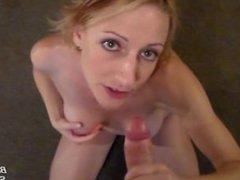 POV Blowjob and Ball Worship for Hot Facial Cumshot