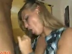 Slutty wives gives blowjobs at bachelorette party
