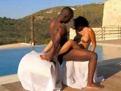 Ebony Couple Lovers Sensuality