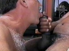 MikeySucksIT SUCKING MY SECOND CUMLOAD FROM FIRST BLACK COCK..
