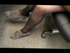 Nylon Footjob intense