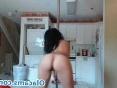 Fast video Brunette BBW strip on webcam