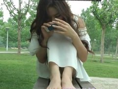 Sexy Asian Feet in Public Foot Fetish Soles Toes Pedicure
