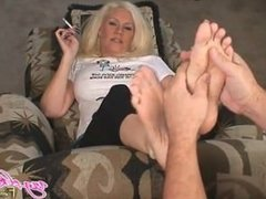sexy foot rub tickle