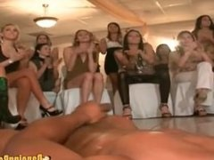 Girls fuck and suck strippers cock at bachelorette party