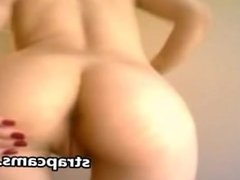 Teen toying ass on webcam with sex toy