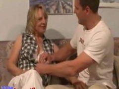 mature MILF with big boobs gets fucked hard