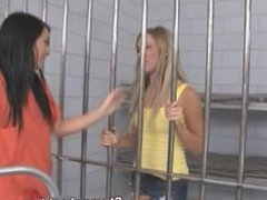 blonde with sweet ass ass fucked by lesbian prisoner