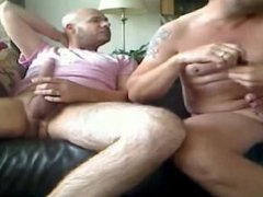 2 guys and he shoot his load in his ass BARE