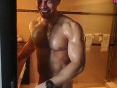 Sean Costin aka Nicholas Demulder Behind Scenes Shower Muscle Naked