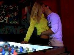 Sexy teen gets seduced in a bar