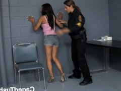 prison guard gets frisky with new girl