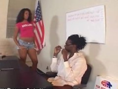 Black teacher fucks a student