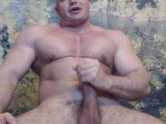 Romanian Bodybuilder Cums on Cam Big Load