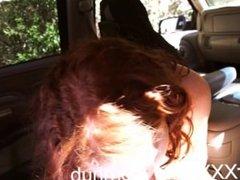 DriverXXX - Hot redhead Alice Green needs a ride