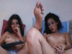 Playfulchix1 big delicious latina feet and pussy