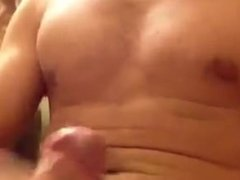 Noah Bacon bursting thick cum in the bathroom