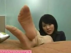 Cherry Asian Feet in Stockings