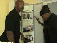Black gang members with huge cocks violating white slut