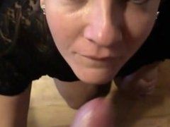 Cougar Getting a Very heavy Facial Cumshot After a Blowjob POV Homemade