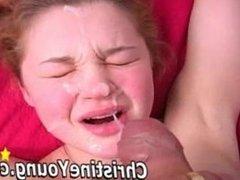 Christine Young Takes Big Facial