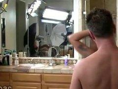 Behind the scenes of brunettes hardcore massage scene