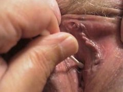 I stimulate my SSBBW GF's pee hole with a lubricated Q-tip and she cums