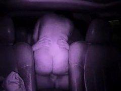 Big Ass rides cock in car