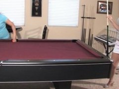 pool table foot worship