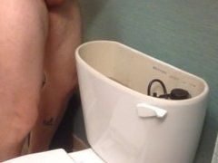 Peeing in the toilet tank!  Next hotel maybe you are flushing with my pee!