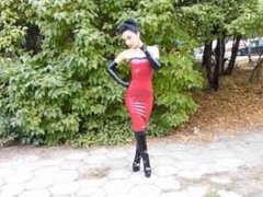 MARILYN YUSUF ' LATEX DRESSES ARE WOMEN-DRESSES YOU SHIT TRANSVESTITE-PIGS