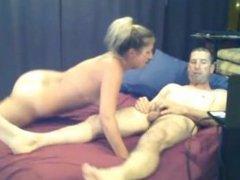 blonde slut with black stockings gives man a long blowjob on bravecams.com
