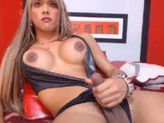Sexy Shemale Webcam Masturbation