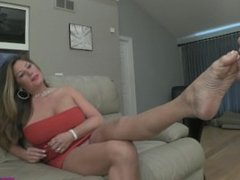 Daniela - The Chastity Tube Makes it Ok to Lick Mommies Feet
