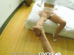 POVD - Sexy Legged Karmen Bella gets a sexy massage