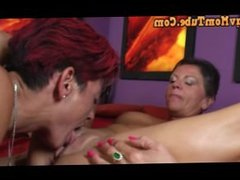 Lesbian MOM fucks MOM with another MOM and MOM