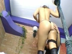 Brazilian lesbian licking and tribbing
