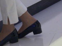 Candid Beautiful Nylon Shoeplay Feet