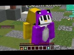 2 penguins 1 minecraft