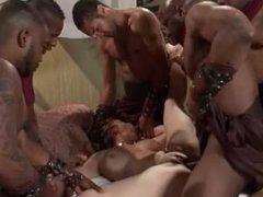 Gangbanged by sexy black men