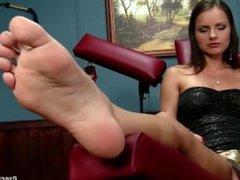 Hot Soles and amazing red toenails