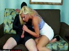 Nice Femdom Handjob Her Slave - mature-fucks.com